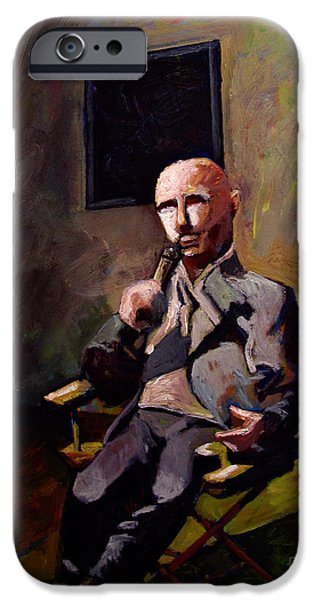 Business Paintings iPhone Cases - SOLD Interview for a New Celebrity iPhone Case by Charlie Spear