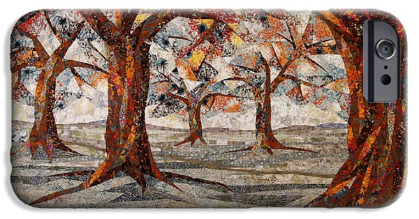Fall Tapestries - Textiles iPhone Cases - Interwoven iPhone Case by Linda Beach