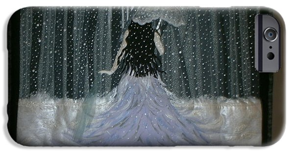 One Tapestries - Textiles iPhone Cases - Into a Snowy Night iPhone Case by Linda Egland