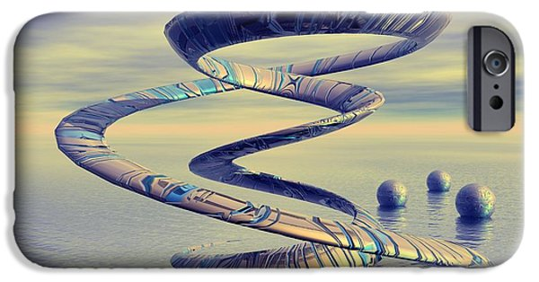 Surrealism Digital Art iPhone Cases - Into life - Surrealism iPhone Case by Sipo Liimatainen
