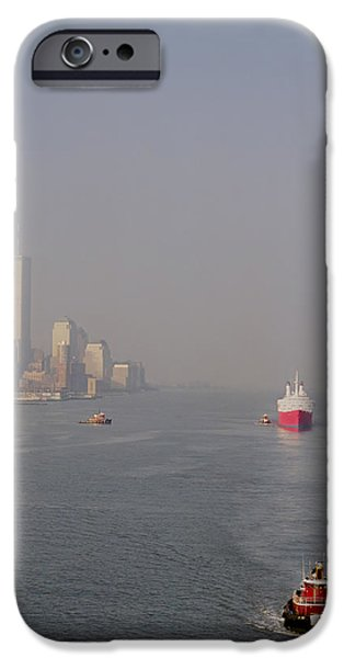 Twin Towers Nyc iPhone Cases - Into Port iPhone Case by Joann Vitali