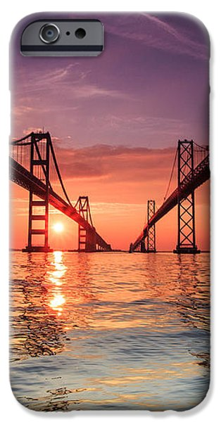 Into Sunrise - Bay Bridge iPhone Case by Jennifer Casey