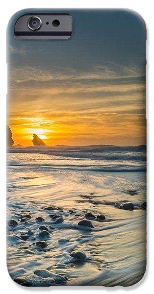 Gloaming iPhone Cases - Into The Blue I iPhone Case by Marco Oliveira