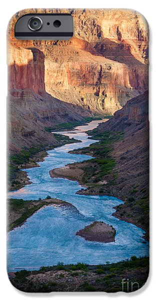 Grand Canyon iPhone Cases - Into the Canyon iPhone Case by Inge Johnsson
