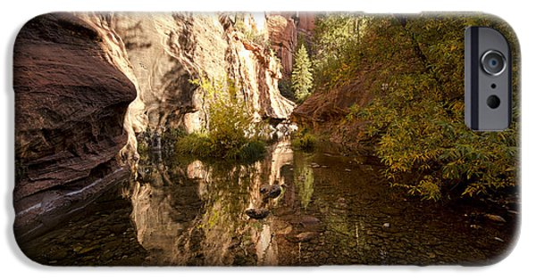 West Fork iPhone Cases - Into the Canyon  iPhone Case by Saija  Lehtonen