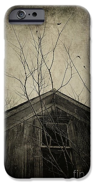 Haunted House iPhone Cases - Into the Dark Past iPhone Case by Trish Mistric