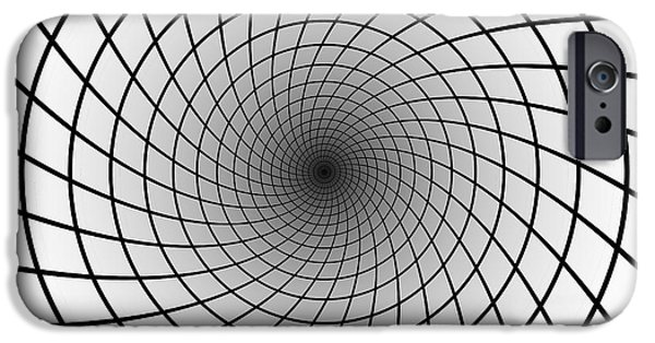 Rosen iPhone Cases - INTO the EINSTEIN - ROSEN BRIDGE iPhone Case by Daniel Hagerman