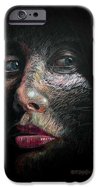 Colored Pencils iPhone Cases - Into the Light iPhone Case by Frank Robert Dixon
