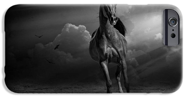 The Horse iPhone Cases - Into the Light iPhone Case by Karen Slagle