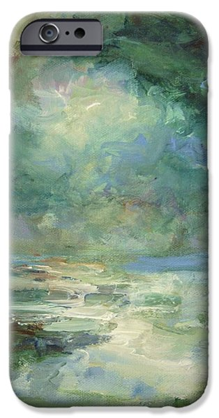 Ocean Sunset iPhone Cases - Into The Light iPhone Case by Mary Wolf