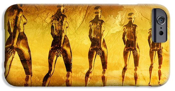 Conceptual Mixed Media iPhone Cases - Into The Light iPhone Case by Photodream Art