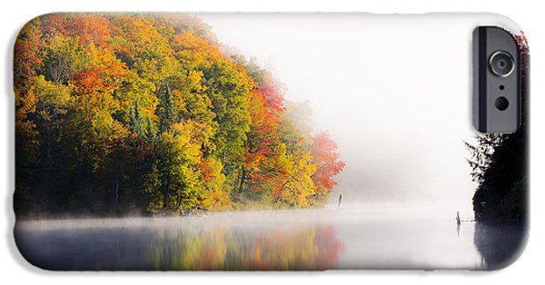 Fog Mist iPhone Cases - Into The Mist iPhone Case by Alan L Graham