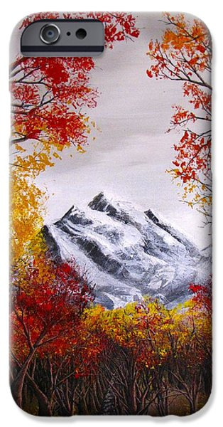 Erik Coryell iPhone Cases - Into The Mountains iPhone Case by Erik Coryell