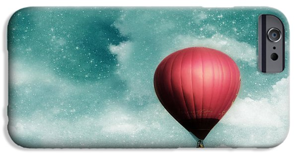 Hot Air Balloons iPhone Cases - Into the Night iPhone Case by Amy Tyler