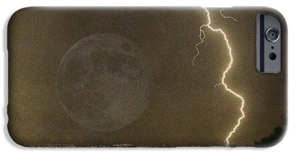 Lightning Images iPhone Cases - Into the night iPhone Case by James BO  Insogna