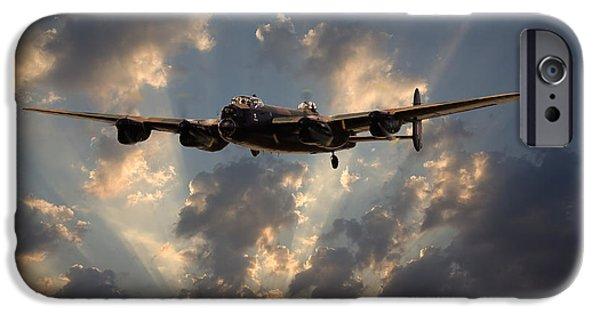 Classic Aircraft iPhone Cases - Into the Night iPhone Case by Pat Speirs