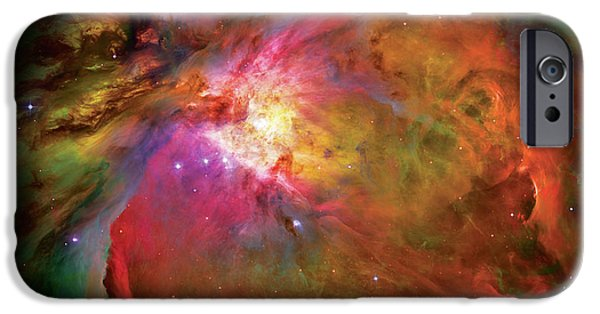Abstract Photographs iPhone Cases - Into the Orion Nebula iPhone Case by The  Vault - Jennifer Rondinelli Reilly