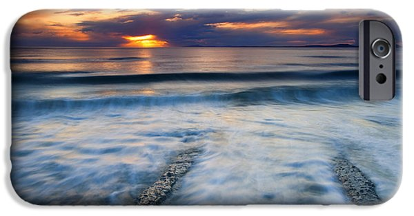 Sea iPhone Cases - Into the Sea iPhone Case by Mike  Dawson