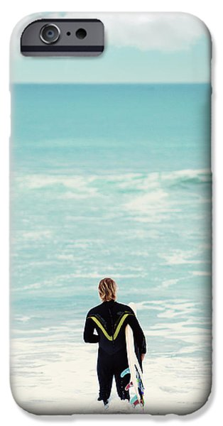 Board iPhone Cases - Into The Sea iPhone Case by Stephanie Sherman