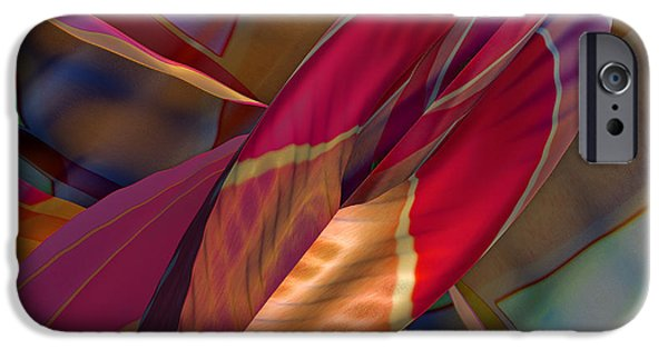 Abstract Digital iPhone Cases - Into The Soul iPhone Case by Deborah Benoit