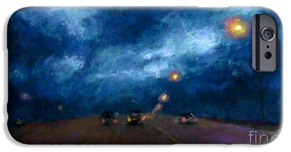 Rain Pastels iPhone Cases - Into the Storm iPhone Case by Cynthia Pierson