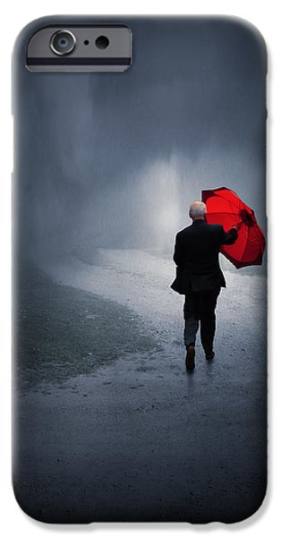 Mist iPhone Cases - Into the Storm iPhone Case by Jennifer Woodward