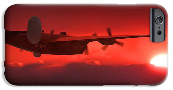 Warbird iPhone Cases - Into the Sun iPhone Case by Mike McGlothlen