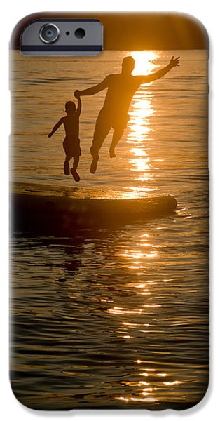 Raft iPhone Cases - Into the Sunset iPhone Case by Holly Kallie