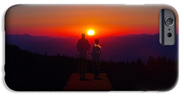 Love Asheville iPhone Cases - Into the Sunset Together iPhone Case by John Haldane