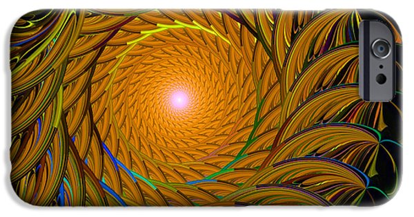 Fractal iPhone Cases - Into the Tunnel iPhone Case by Elizabeth Alexander