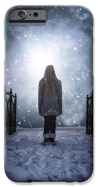 Snowy Evening iPhone Cases - Into The Unknown iPhone Case by Joana Kruse