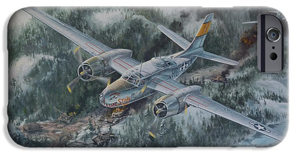 Airbrush Drawings iPhone Cases - Into The Valley of Death iPhone Case by Randy Green