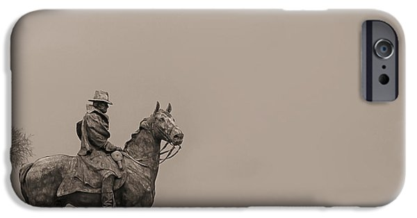 Statues Pyrography iPhone Cases - Into The Void iPhone Case by Don Allen