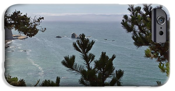 Pfeiffer Beach iPhone Cases - Into The Wild Blue iPhone Case by Heidi Smith