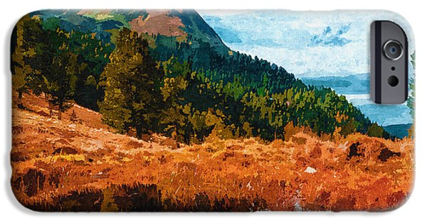 Autumn Woods iPhone Cases - Into The Woods iPhone Case by Ayse Deniz