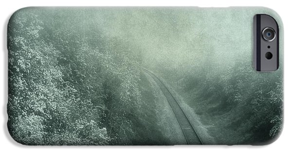 Fog Mist Mixed Media iPhone Cases - Into Unknown iPhone Case by Svetlana Sewell