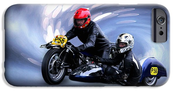 Racing Pyrography iPhone Cases - Intoxicated With Speed iPhone Case by Riccardo Franke
