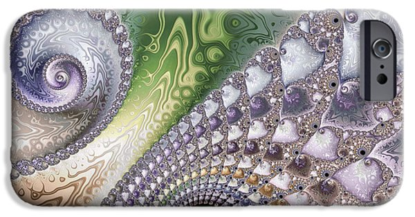 Fractal Photographs iPhone Cases - Intricate iPhone Case by Heidi Smith