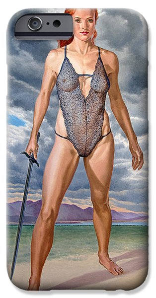 Figure iPhone Cases - Intriguing iPhone Case by Paul Krapf