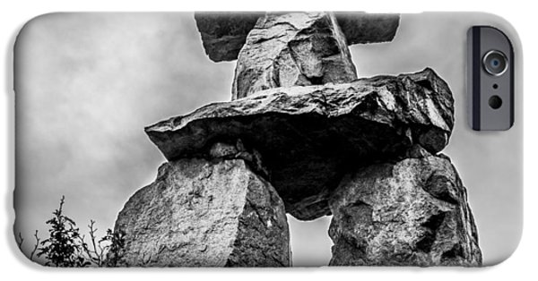 Recently Sold -  - Nation iPhone Cases - Inukshuk iPhone Case by Rob Lyons