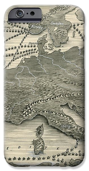 Invasions by the Norsemen iPhone Case by Leslie Ashwell Wood