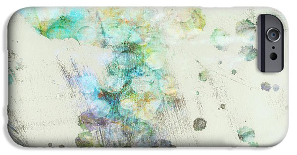 Abstract Expressionist iPhone Cases - Inversion abstract art iPhone Case by Ann Powell