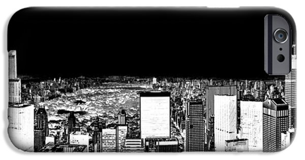 Dark Sky iPhone Cases - Inverted Central Park View iPhone Case by Az Jackson