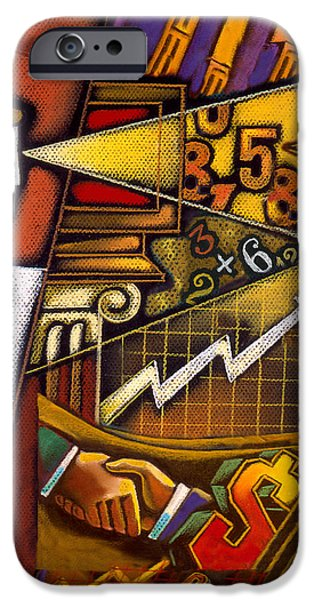 Cooperation iPhone Cases - Investor iPhone Case by Leon Zernitsky