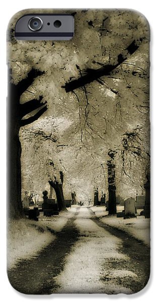 Graveyard Road iPhone Cases - Invisible Light iPhone Case by Gothicolors Donna Snyder