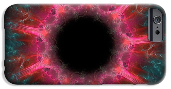 Red Abstract Digital Art iPhone Cases - Inviting Dreams iPhone Case by Lourry Legarde