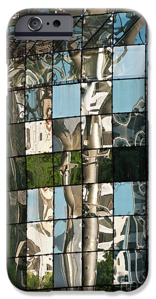 Glass Wall iPhone Cases - ION Orchard Reflections iPhone Case by Rick Piper Photography