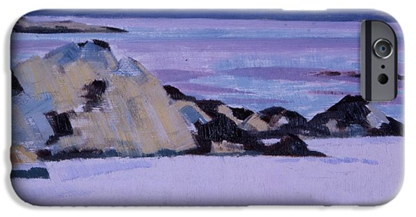 Colorist iPhone Cases - Iona  The North End iPhone Case by Francis Campbell Boileau Cadell