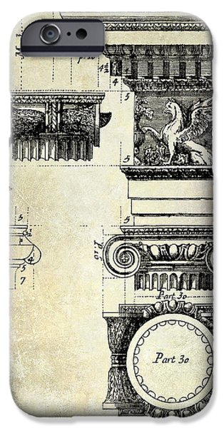 Mean iPhone Cases - Ionic capitol iPhone Case by Jon Neidert