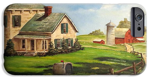 Crops iPhone Cases - Iowa Farm iPhone Case by Lee Piper